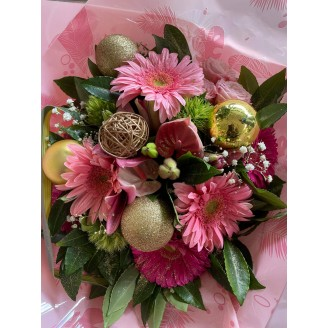 bouquet festif pastel