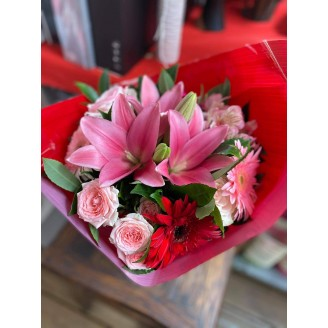 """Bouquet mamie """"on t'aime"""""""