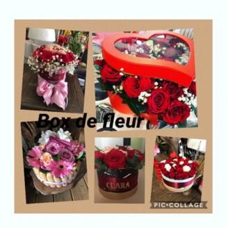 Boxe de fleurs du fleuriste